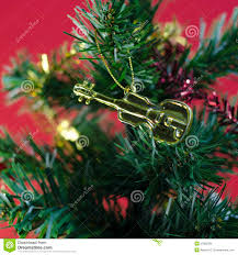violin on christmas tree royalty free stock image image 37982286
