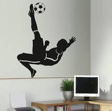 online get cheap wall murals stencils aliexpress com alibaba group d307 large football footballer wall mural transfer art sticker stencil poster decal