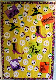 cute skull bulletin board classroom halloween pinterest