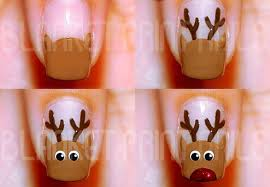 winter rudolph nail best simple tutorial home