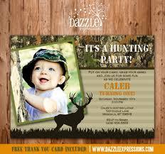 printable kids camo hunting birthday invitation mossy oak