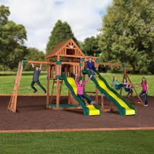 crestwood wooden swing set swing sets backyard discovery