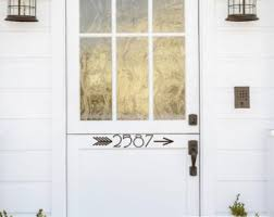 Curb Appeal Usa - front door number decal street number on your front door
