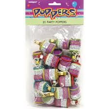 party poppers party poppers 20 per pack from ocado