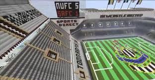 minecraft sports stadium stills taken from minecraft xbox of st james u0027 park built by