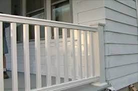 porch banister how to install a composite railing on a porch or deck diy