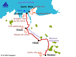 rennes map by bike a cycling week end in between rennes