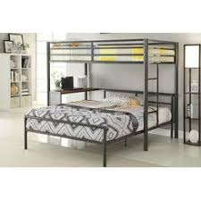 Twin Over Double Metal Frame Bunk Bed - Double and twin bunk bed