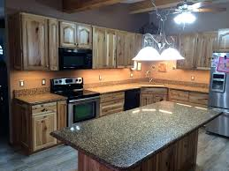 Rustic Hickory Kitchen Cabinets Amish Cabinet Doors Gallery Doors Design Ideas