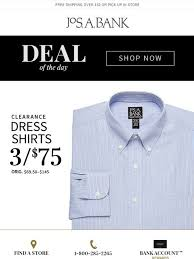 jos a bank your deal of the day 3 for 75 clearance dress