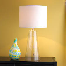 glass table lamp shades with modern tapered clear of light and 4