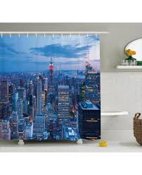 Skyline Shower Curtain Shower Curtain Sunset In Nyc Photo Print For Bathroom