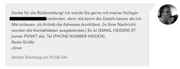 adresse si e air airbnb buchstabiertafel statt e mail adresse und telefonnummer