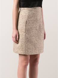 tweed skirt lyst chloé tweed skirt in