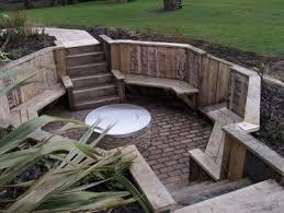Garden Firepit Remarkable Sunken Pit Contemporary Best Inspiration Home
