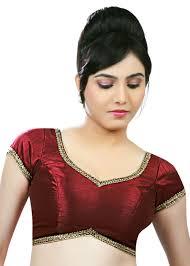 saree blouse golden lace border maroon dupian silk saree blouse sari choli x