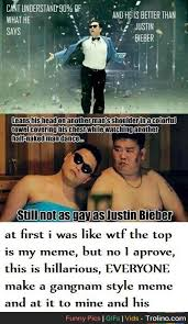 Psy Meme - everyone add i want a full page of awesome bieber smashing psy