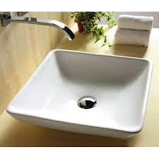 shop nameeks ceramica white ceramic vessel square bathroom sink at