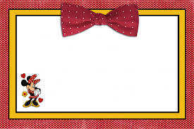 mickey and minnie mouse birthday invitations tags minnie mouse