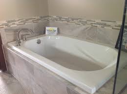 drop in tub with gray tile our work pinterest grey tiles