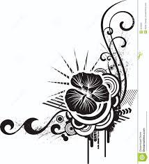 black u0026 white floral designs royalty free stock image image 4233856