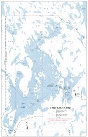 Northern Lights Map Three Lakes Camp Bays Creeks And Rivers For Northern Pike And