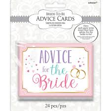 Advice Cards For The Bride 24 Wedding Bridal Shower Hen Night Party Advice For The Bride