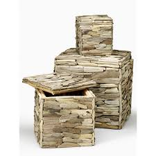 driftwood storage boxes