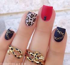 55 classic red and black nail art designs