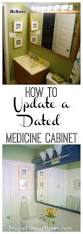 Vintage Cabinet Revamp by How To Update An Old Dated Medicine Cabinet On A Tight Budget