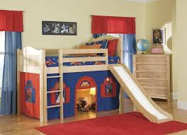 Building Plans For Loft Bed With Desk by Bedroom Low Loft Bed Design For Kids With Slide Along With Free
