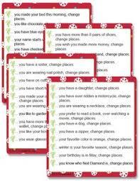 christmas day dinner table games printable left right christmas game poem christmas pinterest