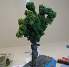 how to make realistic looking miniature trees