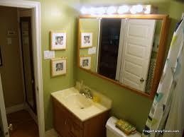 Update Bathroom Lighting Our Frugal Bathroom Reno Updating An Old Medicine Cabinet Frugal