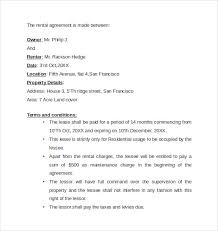 sample rental agreement letter template 7 free documents in