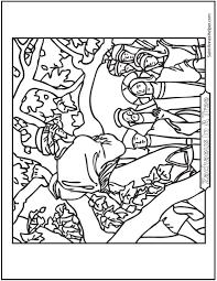 Jesus And Zacheus Coloring Page Zacchaeus Coloring Page