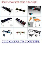Beer Pong Table Length by Regulation Beer Pong Table Size Beer Clone Recipes