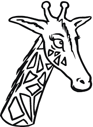 giraffe coloring pages and book uniquecoloringpages clip art