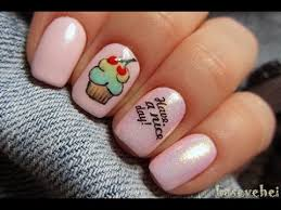 how to paint cupcake nails designs jak namalować babeczkę na