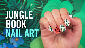 how to create jungle book nail art disney style youtube