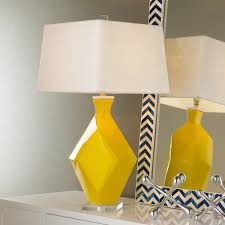 parallelogram transformations table lamp clear acrylic linens