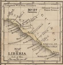Liberia Africa Map by Map Of Africa 1839 Engraved To Illustrate Mitchell U0027s
