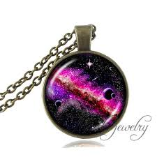 glass star pendant necklace images Purple pink black galaxy necklace star cluster space universe jpg