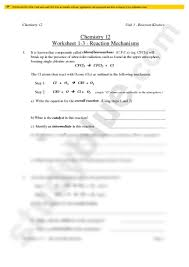 mechanisms practice worksheet pdf chemistry 104 with moore at
