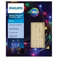 philips 30ct dewdrop string led lights multicolored target