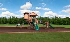 Playground Ideas For Backyard 5 Surfaces Underneath Cedar Play Sets That Can Protect Children