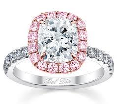sapphire accent engagement rings debebians jewelry pink sapphire accented engagement rings