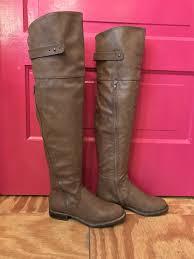 justfab s boots just fab brown thigh high boots mayarising