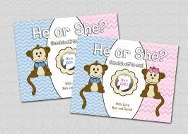 halloween scratch off tickets gender reveal scratch off card cute monkey he or she