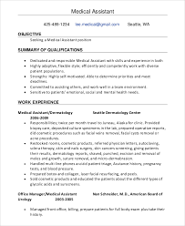 Medical Assistant Resume Objective Samples by Sample Resume Objective 8 Examples In Pdf